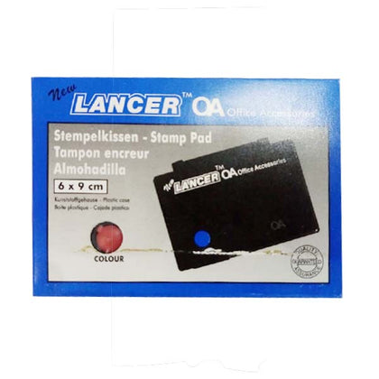 Stamp Pad Small 6X9 Red Lancer
