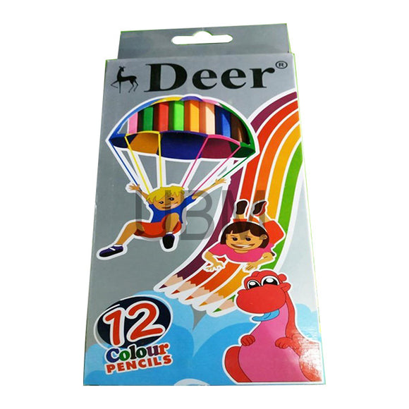 Deer Colour Pencil 12Pcs F/S