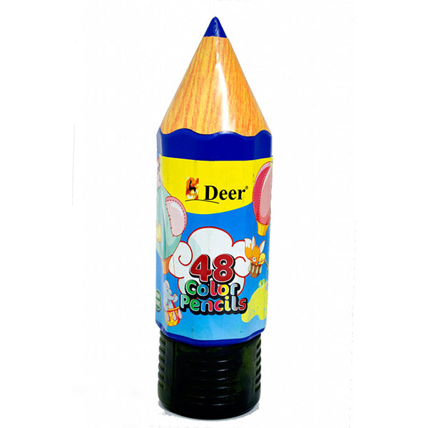Deer Colour Pencil Can 48 Pcs