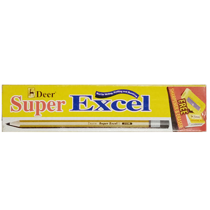 Deer Excel Lead Pencil With Sharpner & Eraser( 12pcs)