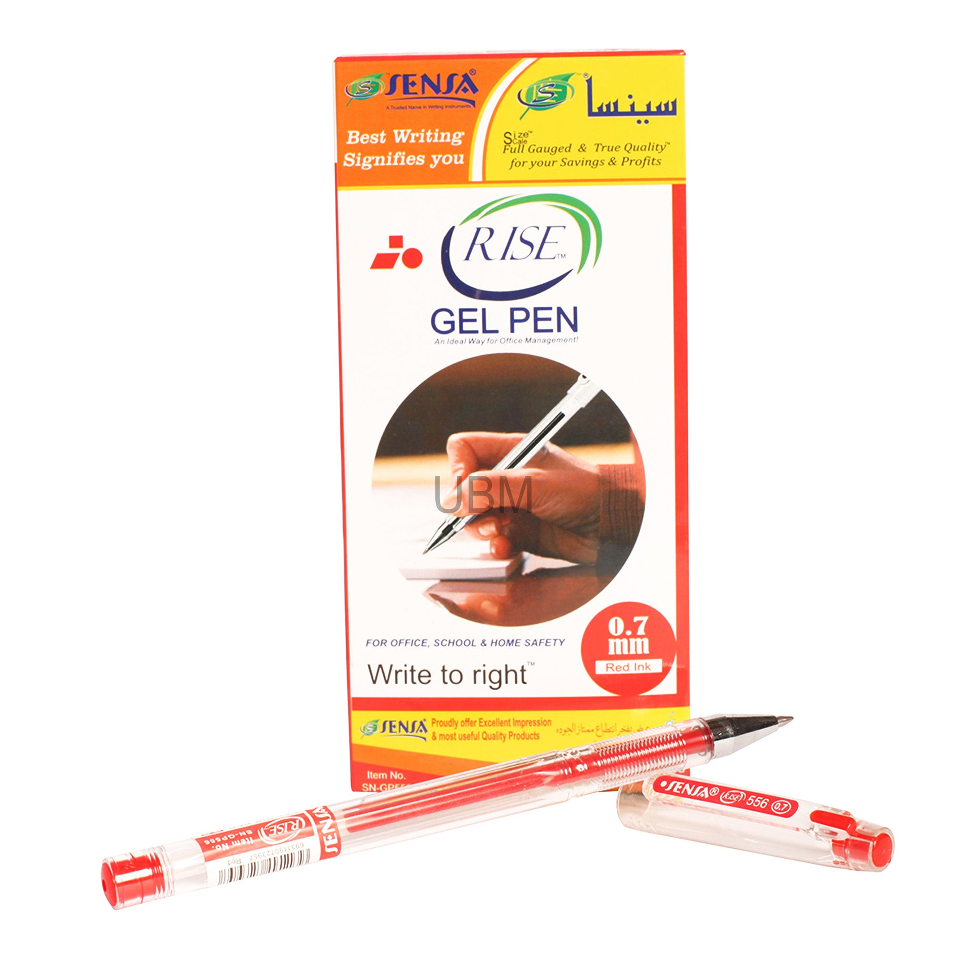 Sensa Gel Pen (Rise) 556	Red (1 Pcs)