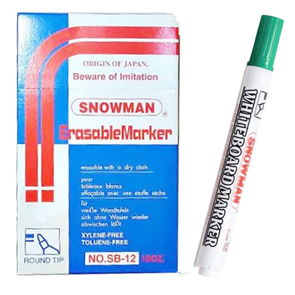 Snowman Board Marker No-70 Green 1Pcs (GOAL)