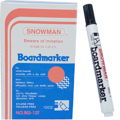 Snowman Board Marker No-90 Black 1Pcs (CUT)