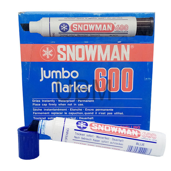 Snowman Jumbo Marker Permanent No-600 Blue (1pcs)