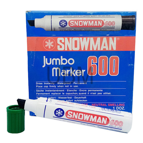 Snowman Jumbo Marker Permanent No-600 Green (1pcs)