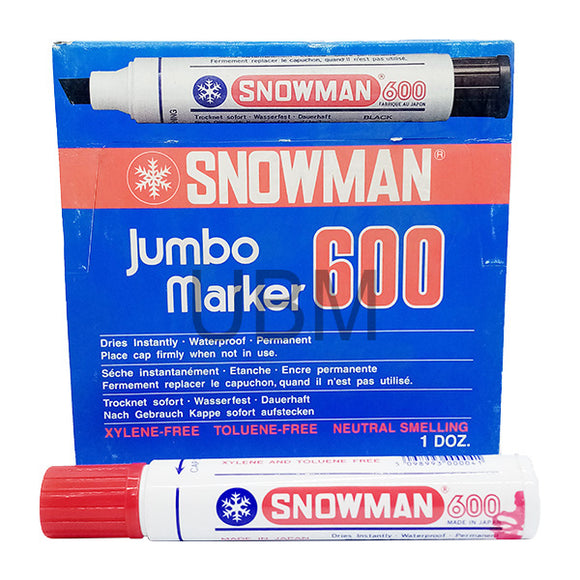 Snowman Jumbo Marker Permanent No-600 Red (1pcs)