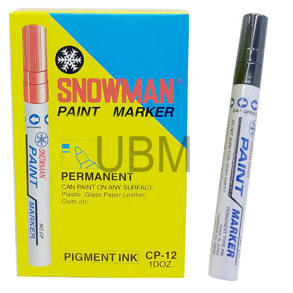Snowman Paint Marker Black (1Pcs)
