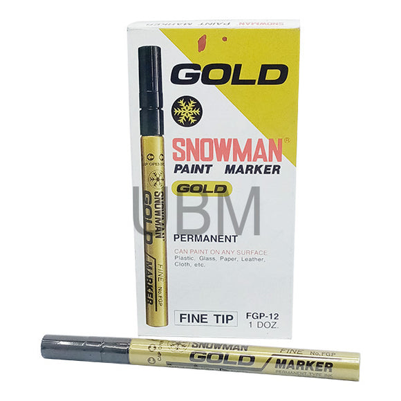 Snowman Paint Marker Fine Golden (1pcs)
