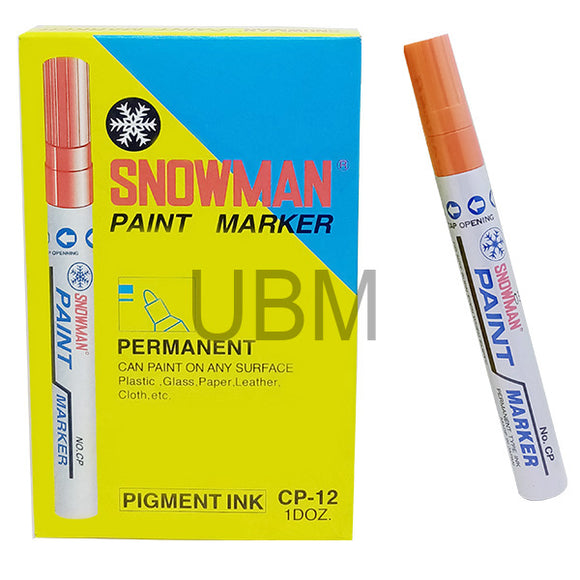 Snowman Paint Marker Orange (1pcs)