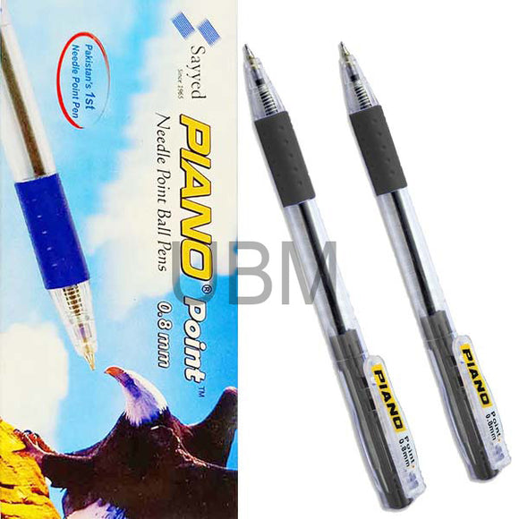 Piano Ball Pen 0.8 Black (Box)