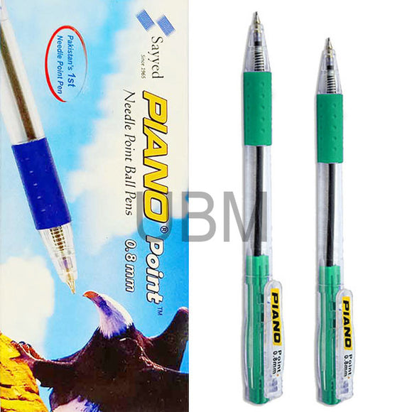 Piano Ball Pen 0.8 Green (Box)