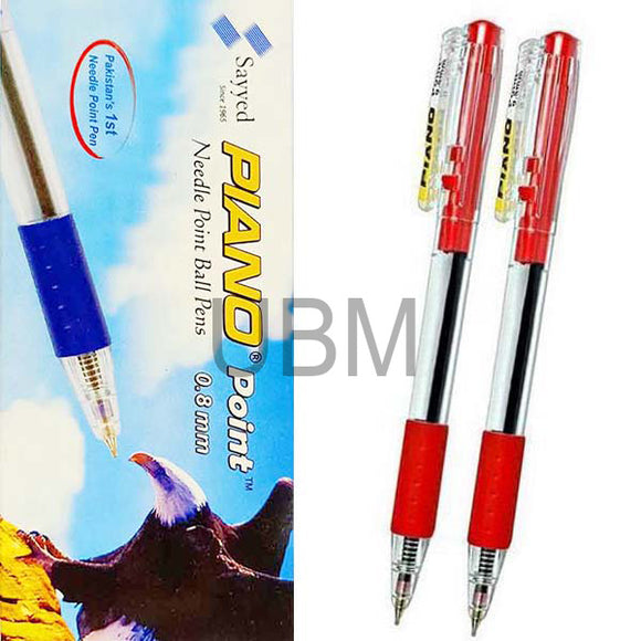 Piano Ball Pen 0.8 Red (Box)