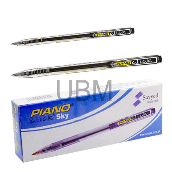 Piano Ball Pen Click Sky Black (Box)