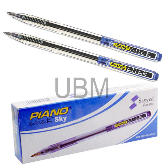 Piano Ball Pen Click Sky Blue