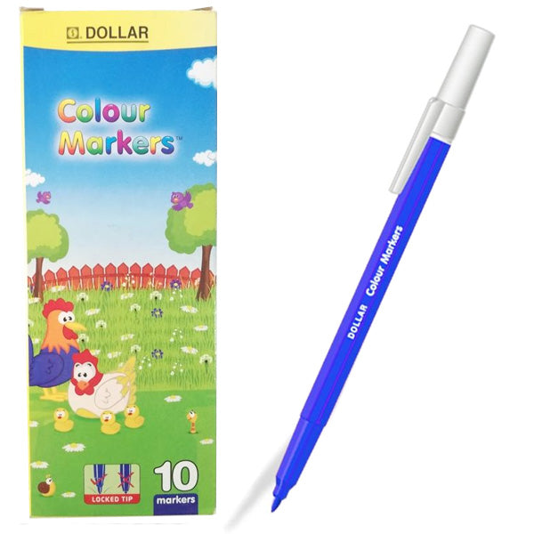 Dollar Colour Marker Blue (10pcs)