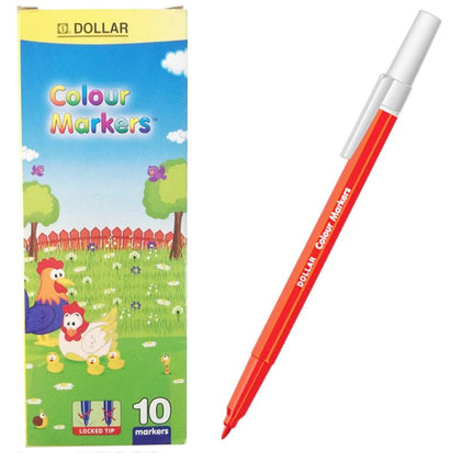 Dollar Colour Marker Red (10pcs)