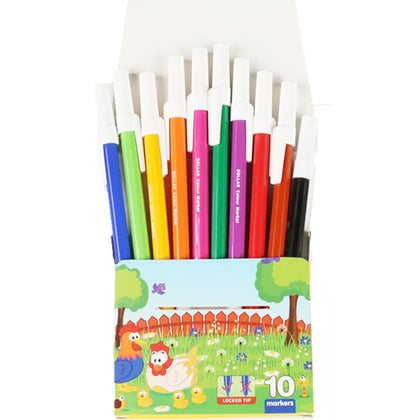 Dollar Colour Marker Set 10Pcs