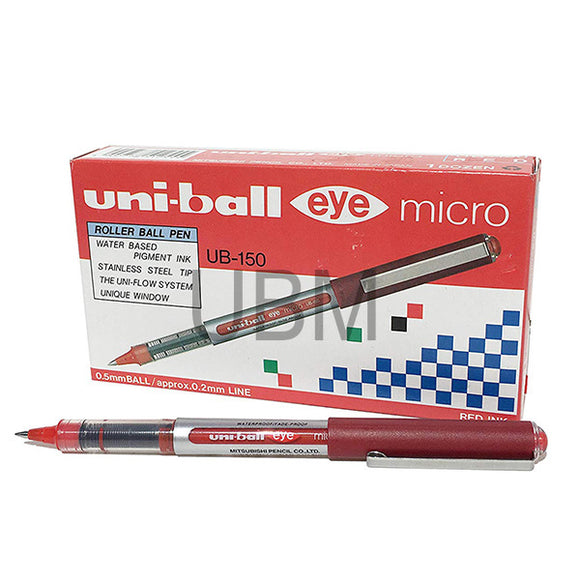 Uni-Ball Ball Pen Eye Micro Ub-150 Red (Pcs)