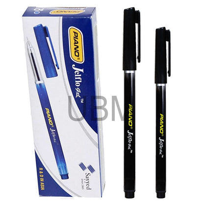 Piano Ball Pen Jelflo Black (Box)
