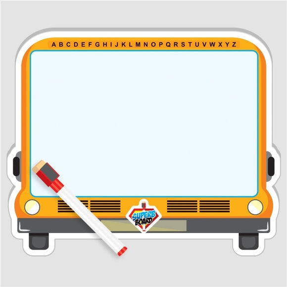 Double White Board With Marker Bus Shape