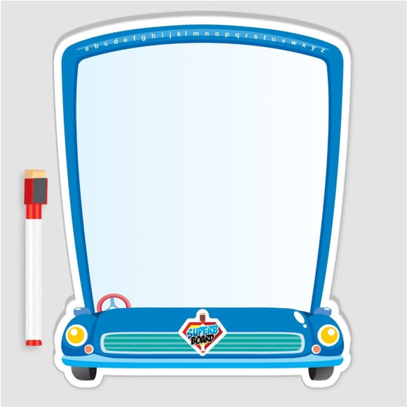 Double White Board With Marker Car Shape