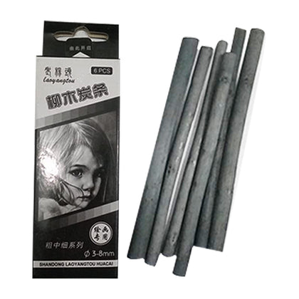 Charcoal Stick No.07031 Hlaf Dabbi (6Pcs)