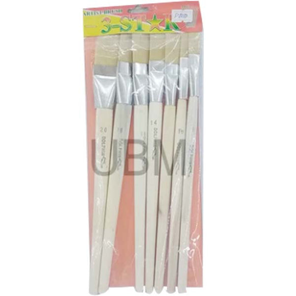 Paint Brush Set Flat Wooden Dolphin