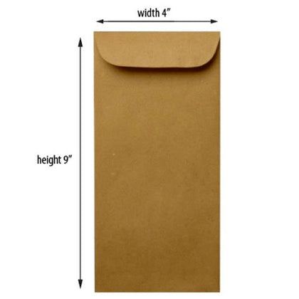 Paper Envelope Brown 9X4