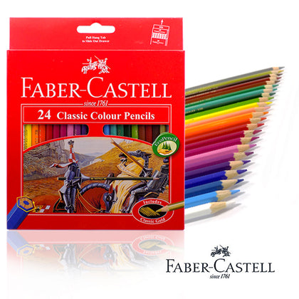 Faber-Castell Classic Colour Pencils 24Pcs