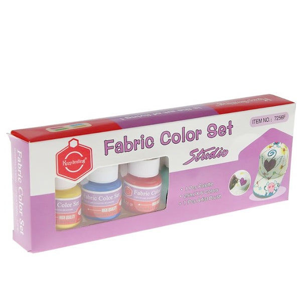 Fabric Colour Set (6 Colour) # 7256F Keep Smiling