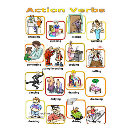 Flash Cards Actions - Assorted - naiton