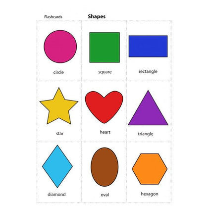Flash Cards colours & Shapes - Assorted - naiton