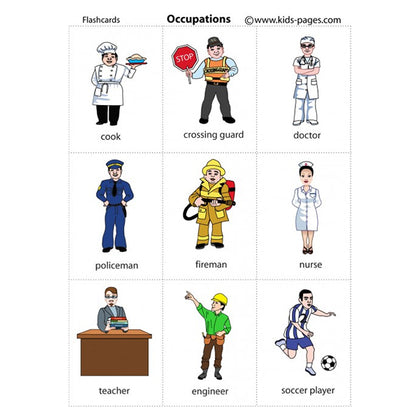Flash Cards Occupations - Assorted - naiton