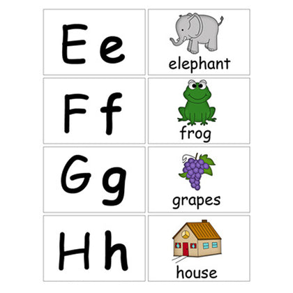 Flash Cards Small abc - Assorted - naiton