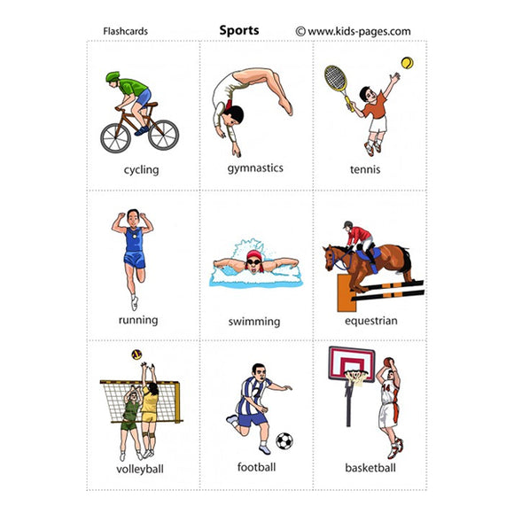 Flash Cards Sports - Assorted - naiton