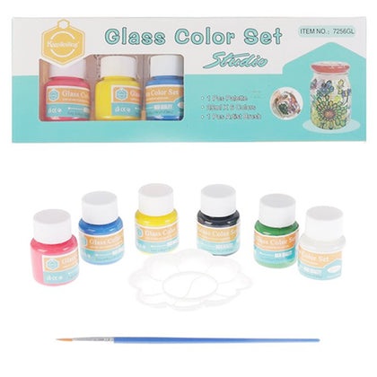 Glass Colour Set (6 Colour) Set # 7256GL