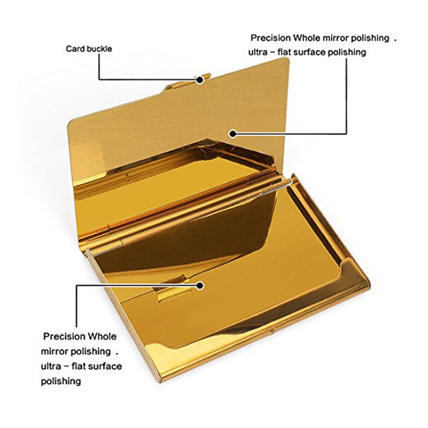 Visiting Card Dabbi Pocket Golden