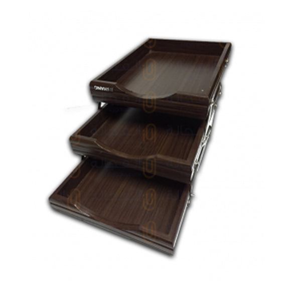 Letter Tray Wooden 3 Story 7713