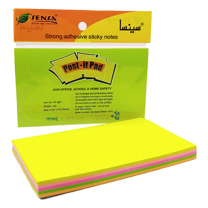 Post-it Pad Mix Color 3x5 Sensa