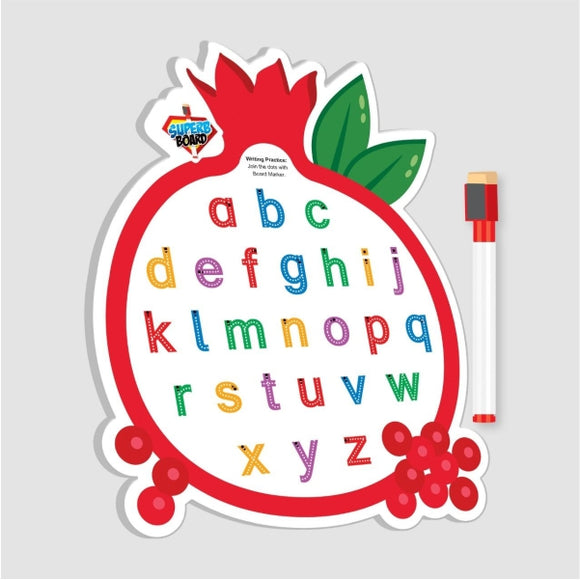 Double White Board With Marker Pomegranate Shape
