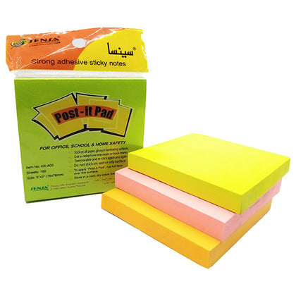 Post-it Pad Colored 3x3 Sensa