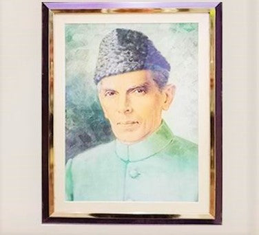 Quaid-E-Azam Picture Frame  (Glass)