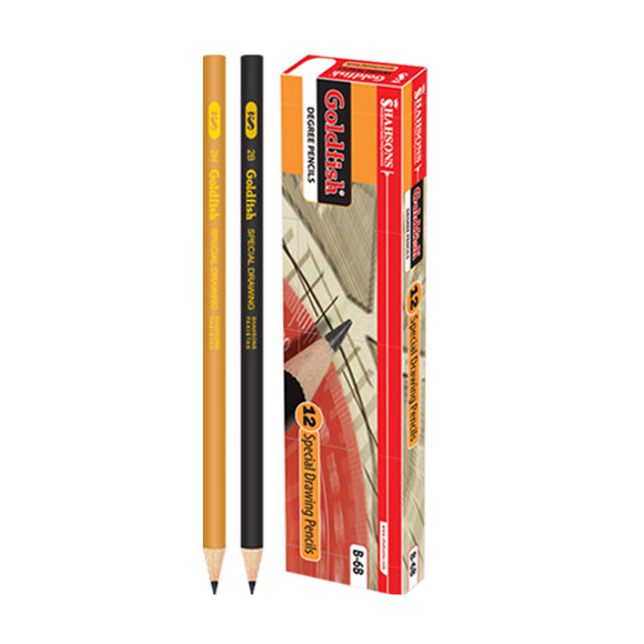 G/F Degree Pencil B-2 Goldfish 12pcs