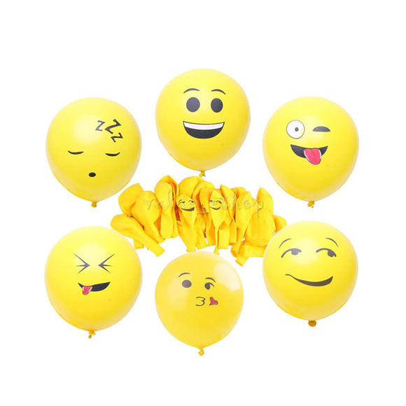Balloon Smile Face Mix Color (1Pkt)