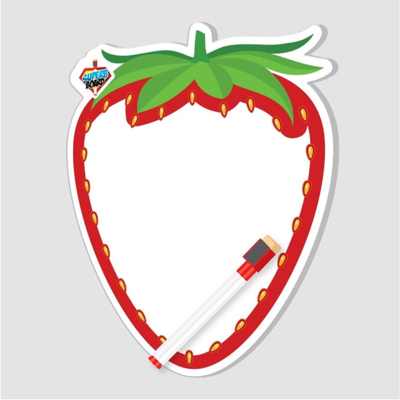 Double White Board With Marker strawberry Shape