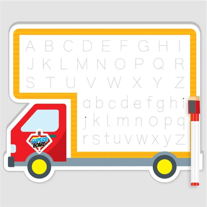 Double White Board With Marker  Truck Shape