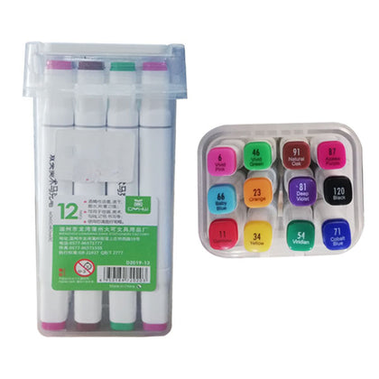 Double Headed Twin Marker set of 12 colors