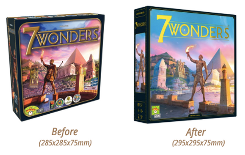 7 Wonders New Edition Box Cover - before and after
