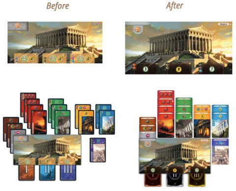 7 Wonders New Edition Wonder Board - before and after