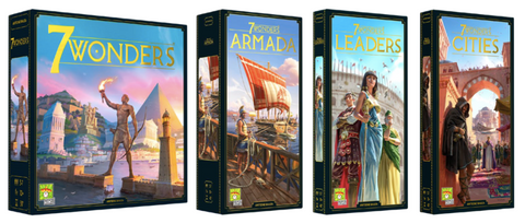 7 Wonders New Edition - Core Game and Cities, Leaders, and Armada Expansion